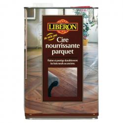 Cire parquet LIBERON incolore, nourrit et embellit le bois 5L