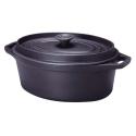 Cocotte ovale 33cm 6,9 litres en fonte noire - Invicta