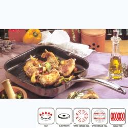 BEKA CHEF Grille viande inox 26.5 x 26.5 cm