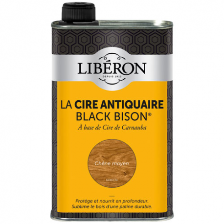 Cire black bison Liberon chêne moyen 0.5L