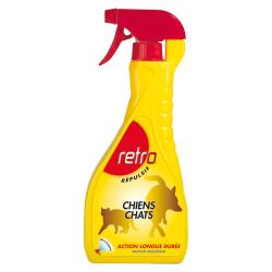 RETRO Répulsif pulvérisateur pour chiens et chats 600ml
