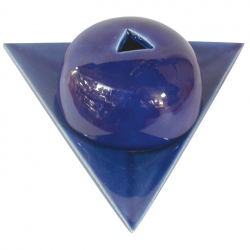 Bruleur papier Arménie céramique bleu