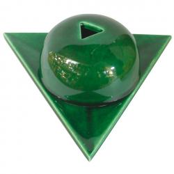 Bruleur papier Arménie céramique vert