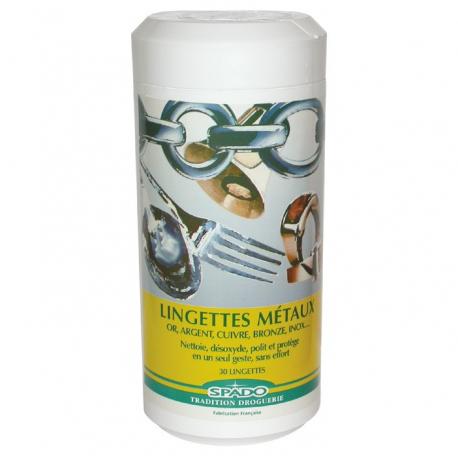 Lingettes nettoyant multi métaux x30