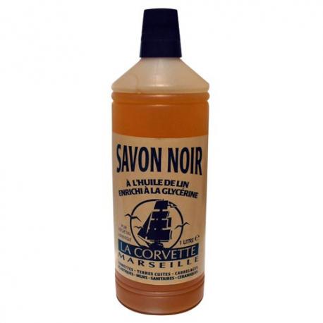 Savon noir huile lin LA CORVETTE 1l